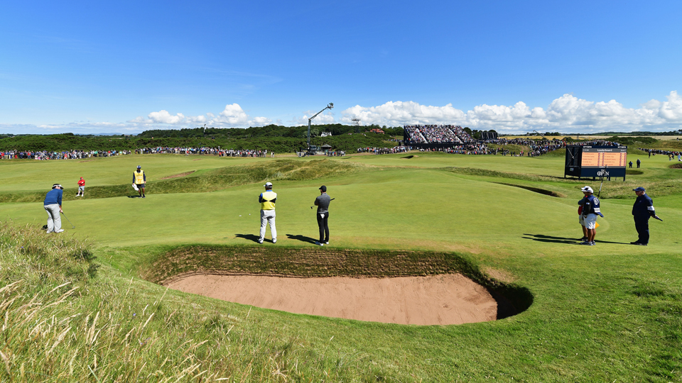 The smallest championship hole in golf can still be one of the nastiest, as the 8th hole at Royal Troon proved again Thursday.