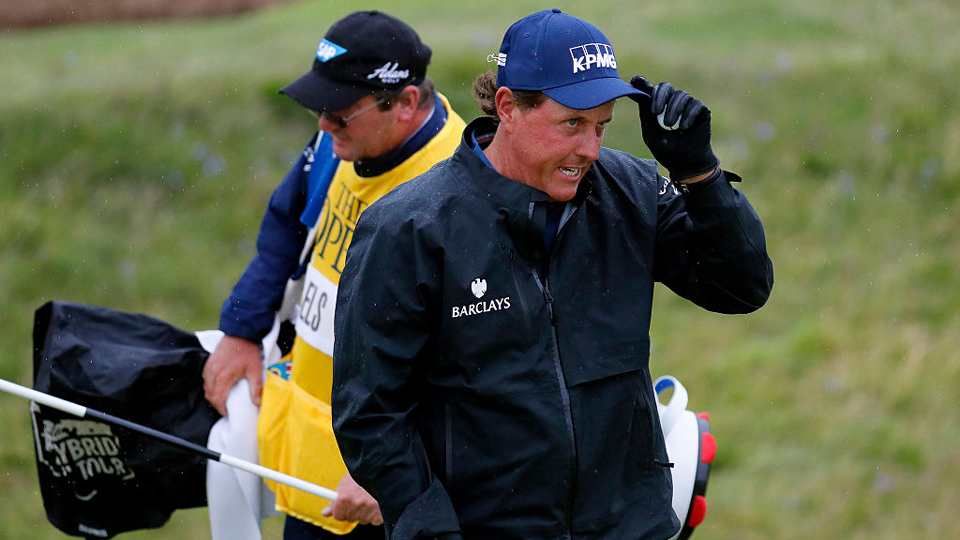 Phil Mickelson's magic at Royal Troon continued Friday morning, with a near ace on the par-3 8th hole.