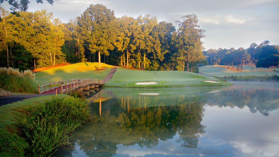 The 13th green at the University of Georgia Golf Course.