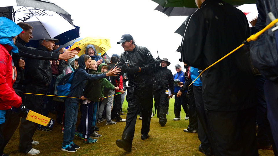Mickelson followed up his opening-round 63 with a 69 in more difficult conditions on Friday.