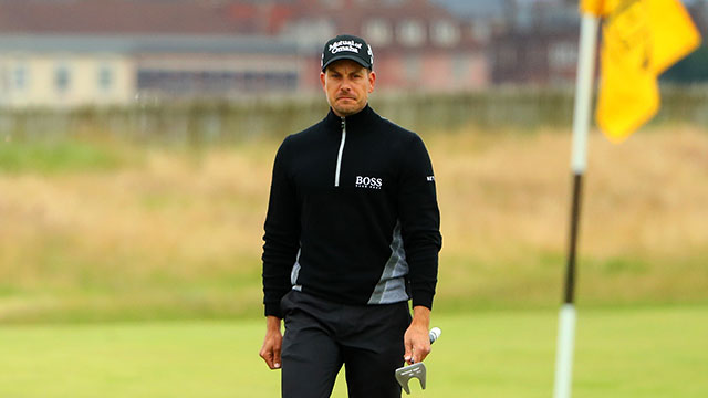 Henrik Stenson of Sweden walks on the 1st green during the second round on day two of the 145th Open Championship at Royal Troon on July 15, 2016 in Troon, Scotland.