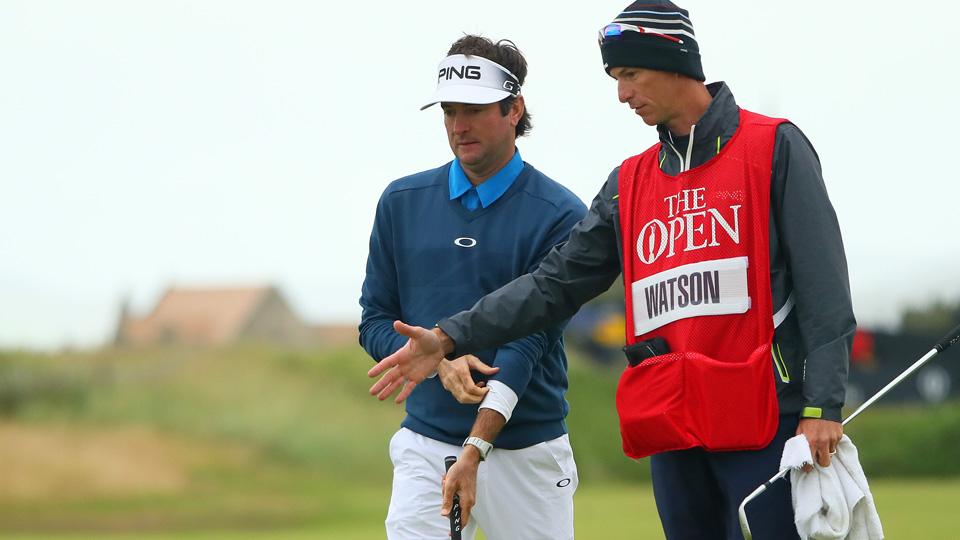 Bubba Watson used a sprinkler head to his advantage on Saturday.