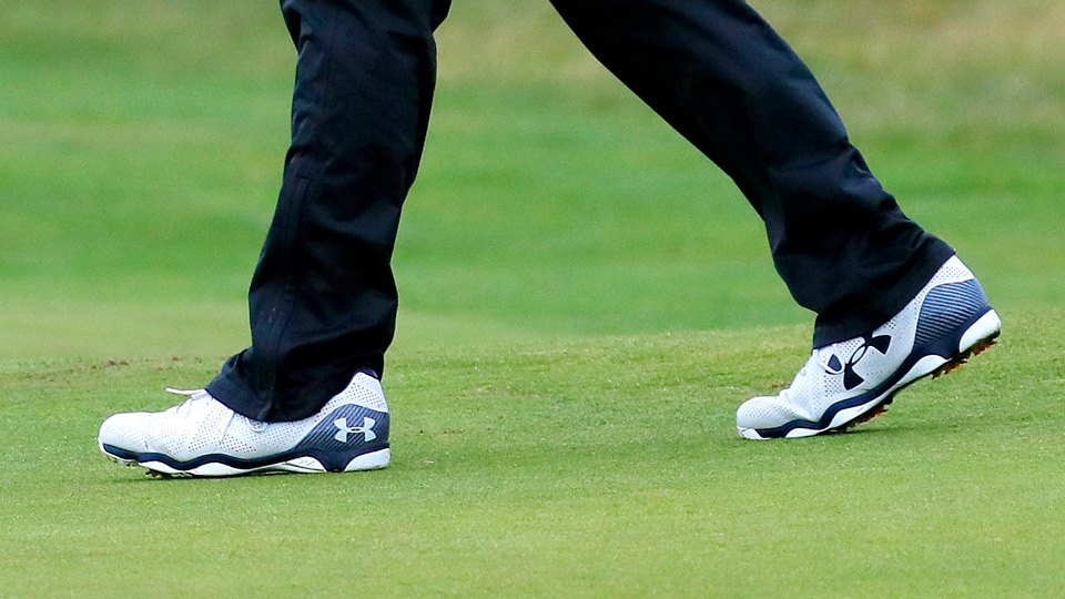 A closer look at Spieth's shoes at Royal Troon.