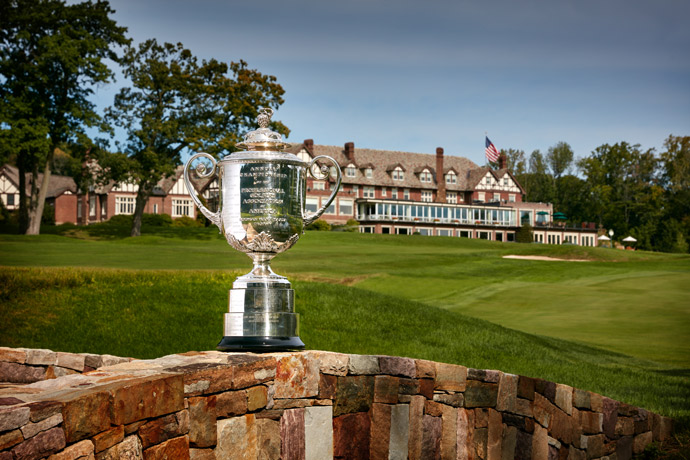 The Wanamaker Trophy at Baltusrol.