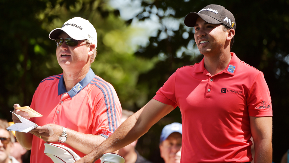 Jason Day worked diligently with his caddie Colin Swatton to get a feel for Baltusrol, a course Day had never played.