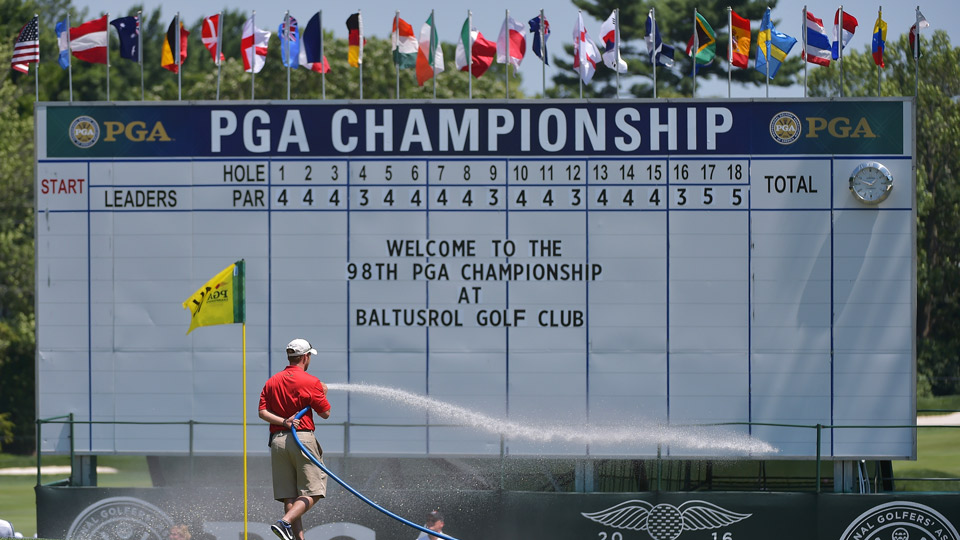 The 2016 PGA Championship is being held at Baltusrol Golf Club in New Jersey.