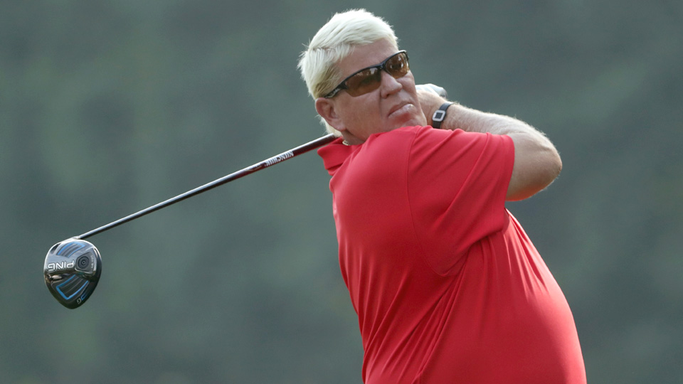 John Daly shot a first round score of even par to get into contention in the 2016 U.S. Senior Open.