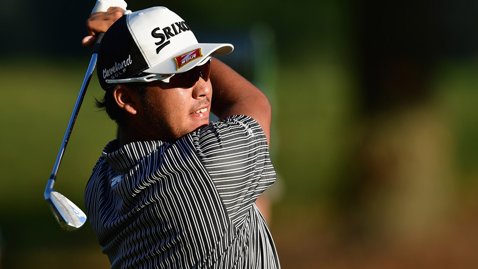 Hideki Matusyama pictured during the first round of the PGA Championship.