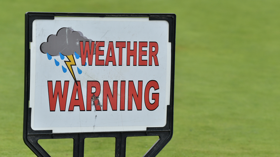 The severe weather delay that began at 2:14 p.m. ET at Baltusrol continued throughout the evening, pushing the third round to Sunday.