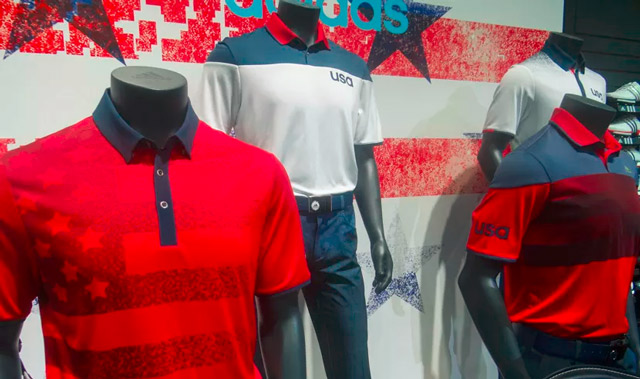 U.S. Men's Golf team uniforms for the 2016 Olympics in Rio.