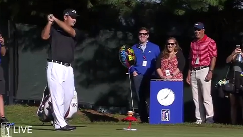 Patrick Reed celebrated his 26th birthday in style today at the Travelers Championship.