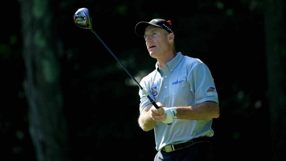 Jim Furyk during the second round of the 2016 Travelers Championship.