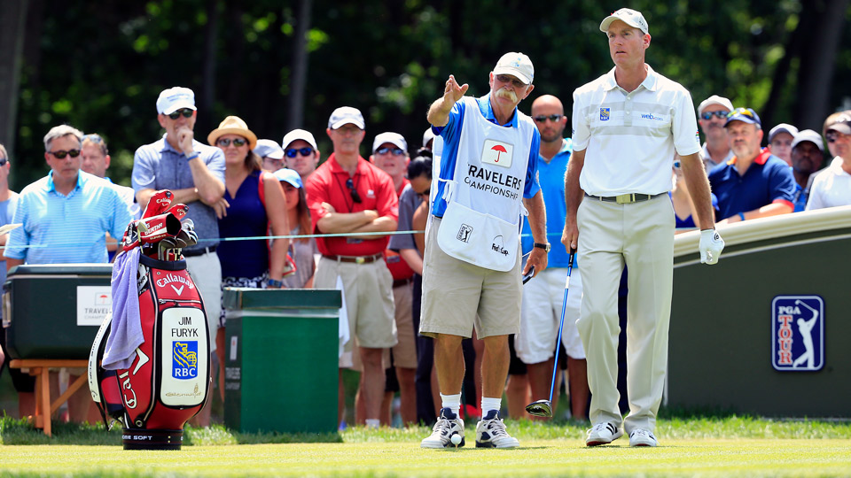 Jim Furyk during the final round of the 2016 Travelers Championship.