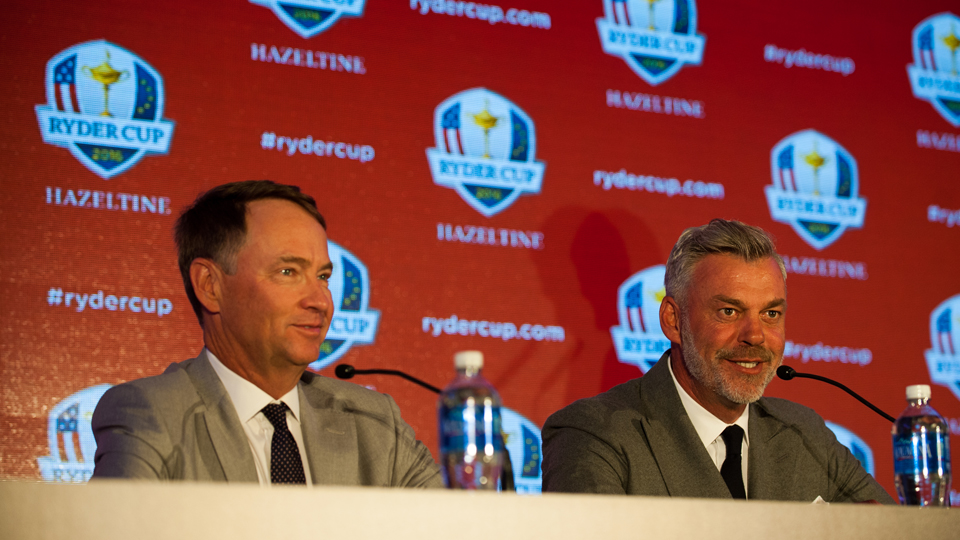 Ryder Cup captains Davis Love III (left) and Darren Clarke will have difficult decisions to make when it comes time to fill out their respective rosters.