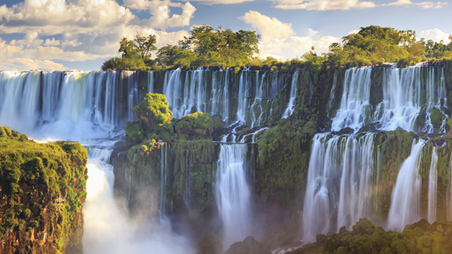 Iguazu Falls, on the border of Brazil and Argentina, is a water hazard you don't want to miss.