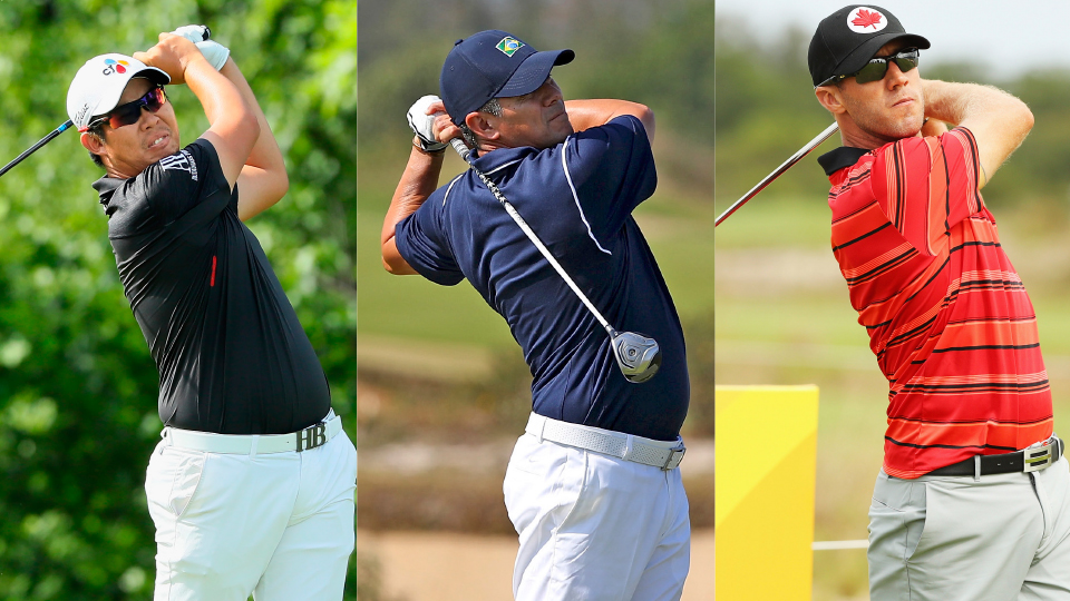 South Korea's Byeong Hun An, Brazil's Adilson da Silva and Canada Graham DeLaet comprise the opening grouping for golf's Olympic return.