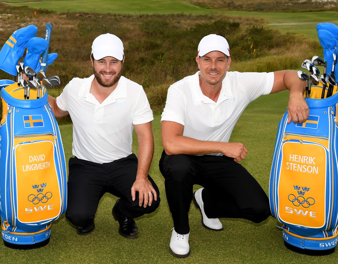Sweden's David Lingmerth (left) and Henrik Stenson (right)