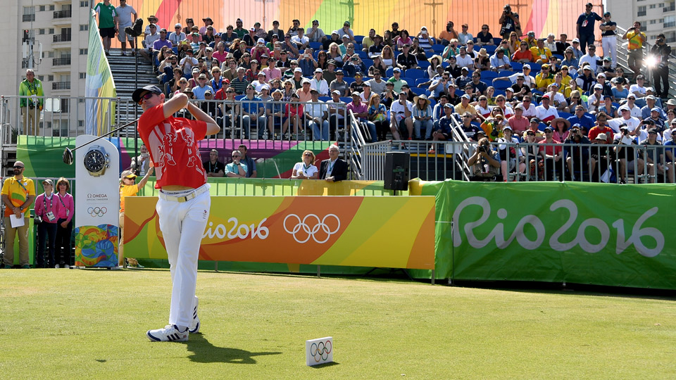 Justin Rose on Saturday during the third round of the Olympic Golf Tournament.