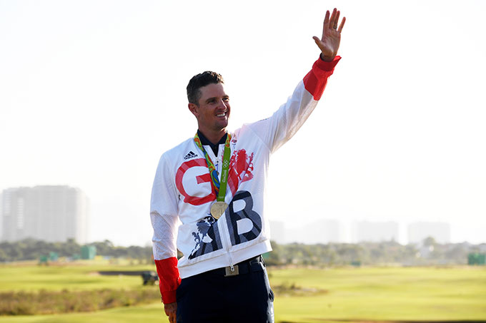 Great Britain's Justin Rose became the first gold medalist for golf in 112 years.