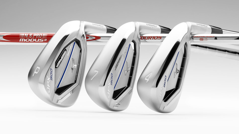 Mizuno JPX-900 Hot Metal irons.