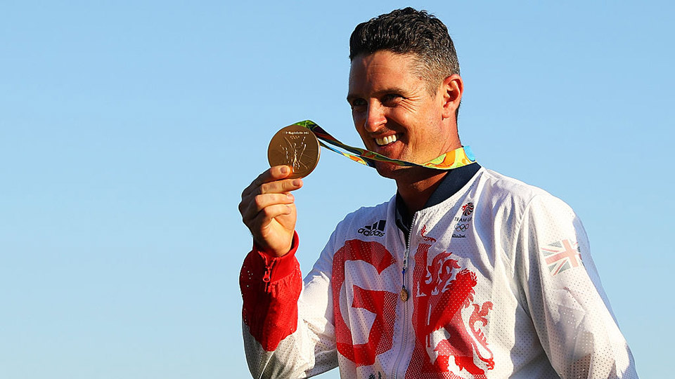"""""""He was very, very proud,"""" Justin Rose said of Rory McIlroy's comments on the gold medal Rose won on Sunday."""