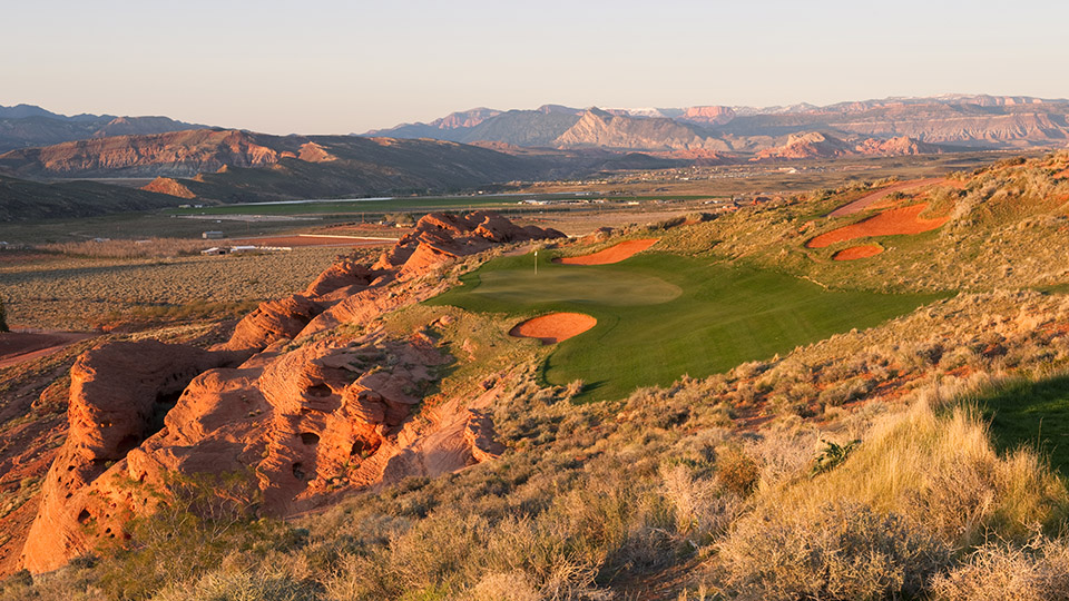 The 15th hole at Sand Hollow Golf Course in Hurricane, Utah.