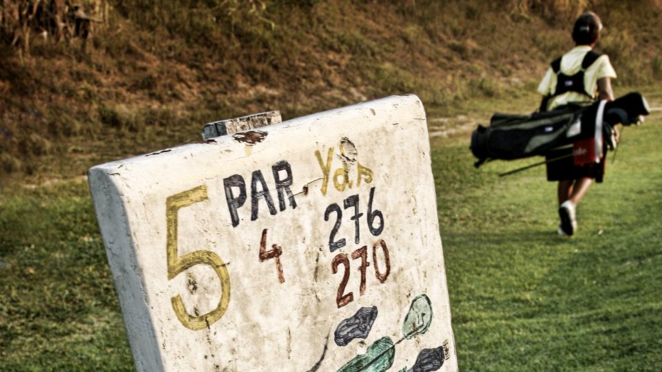 Anderson Nunes walks on the 5th hole of Japeri Golf Club.