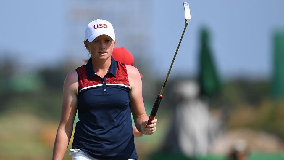 Stacy Lewis shot an eight under par 63 during Round 2 of the Women's Olympic Golf competition at the Rio Olympics.