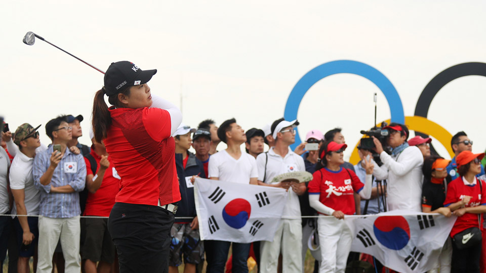 Inbee Park during the final round of the 2016 Women's Olympic Golf tournament.