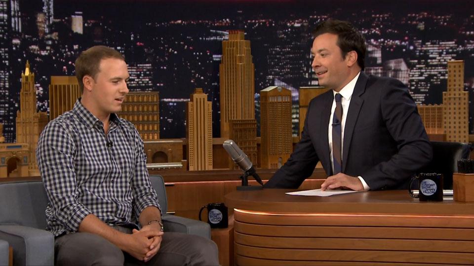 Two-time major winner Jordan Spieth joined Jimmy Fallon on 'The Tonight Show' on Monday.
