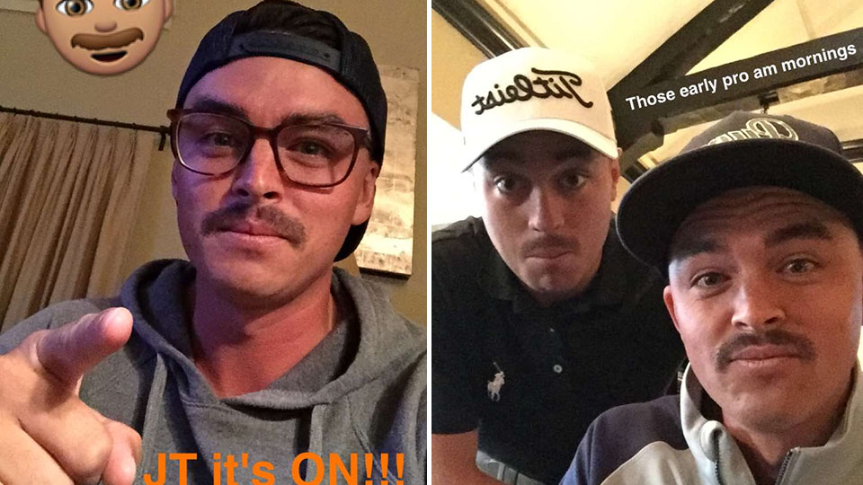 Rickie Fowler and Justin Thomas are in it to win it (the FedEx Cup playoff mustache contest, that is).