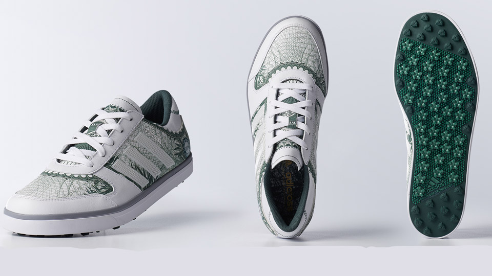 The new Adidas Big Check golf shoes.