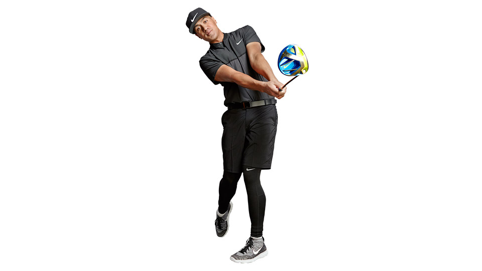 Release the club with both hands -- never let one hand dominate.