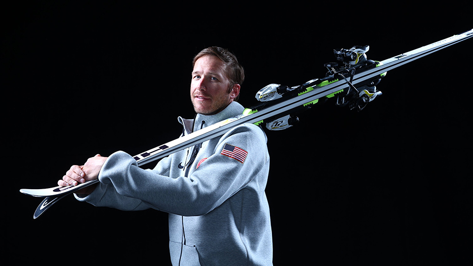 Bode Miller poses for a photoshoot ahead of the Sochi 2014 Winter Olympics.