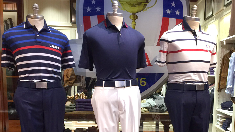 Tuesday, Wednesday and Thursday uniforms for the U.S. Ryder Cup team.