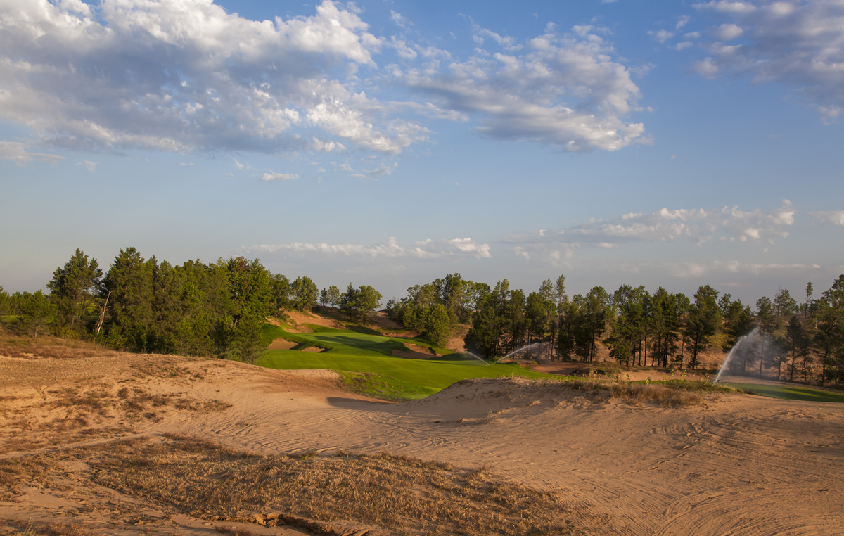 Sand Valley's par-4 ninth hole.