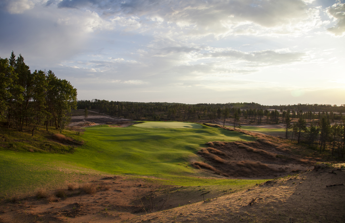 Sand Valley's sixth hole.