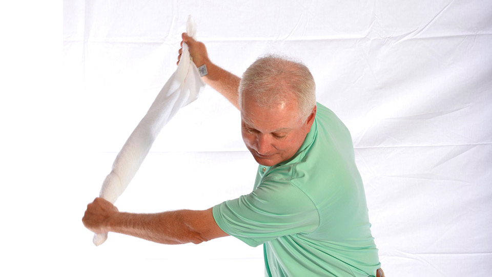It cleans your clubs. It dries your forehead. And a towel can save you strokes.