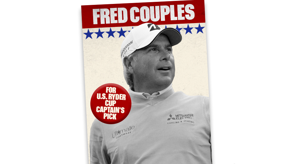 Fred Couples as a Ryder Cup captain's pick? It's not as crazy as you might think.