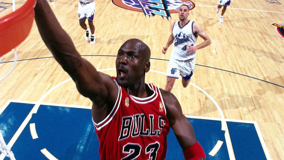 Just let everything go, à la Michael Jordan (face muscles included).