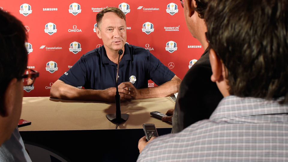 Davis Love III named three of his Ryder Cup captain's picks on Monday at Hazeltine, and all were familiar faces.