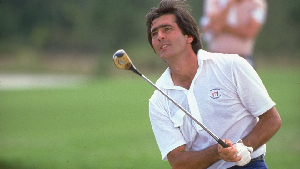 Seve Ballesteros used a persimmon wood out of a bunker during the 1983 Ryder Cup, referred to Jack Nicklaus as 'one of the greatest shots' he's ever seen.