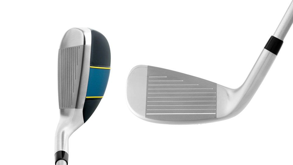 A look at the Hot Launch 2 at address as well as the face of the new iron-woods.