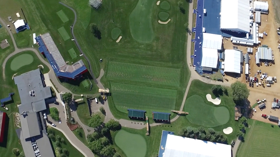 Watch Hazeltine transform as it prepares for thousands of spectators for the Ryder Cup.