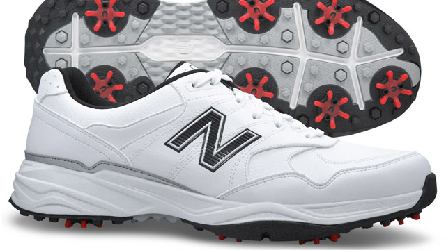 "These sporty duds are built to last with the company's proprietary durable ""Ndurance"" rubber outsole. An EVA foam midsole and water-resistant microfiber leather upper keep feet comfortable in all kinds of conditions, while seven Champ Slim-Lok cleats supply stability during the swing.  BUY NOW"