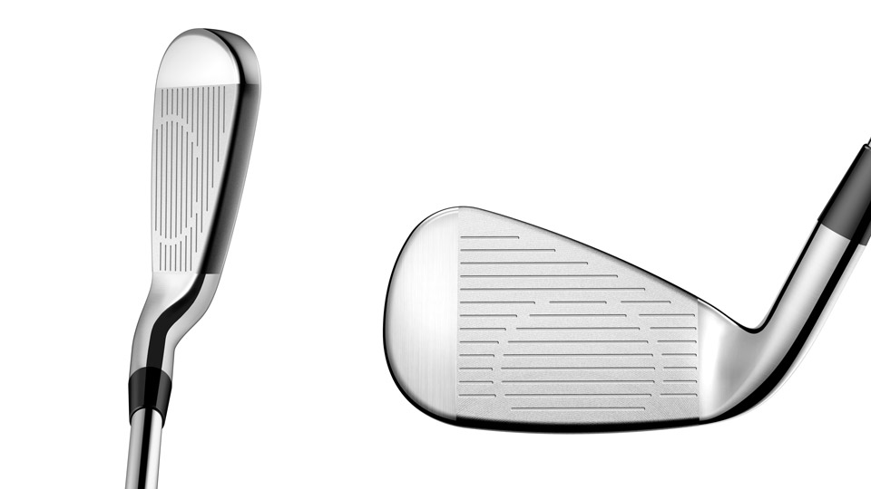 A look at the Cobra King Oversize irons' face and at address.