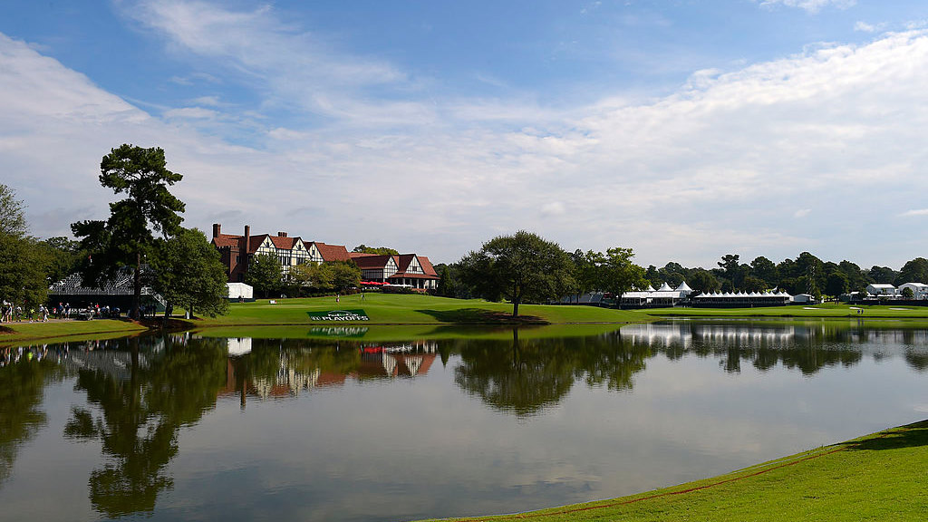 A shot of the East Lake clubhouse.