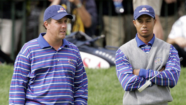 The Mickelson/Woods pairing proved disastrous for the U.S. in 2004.