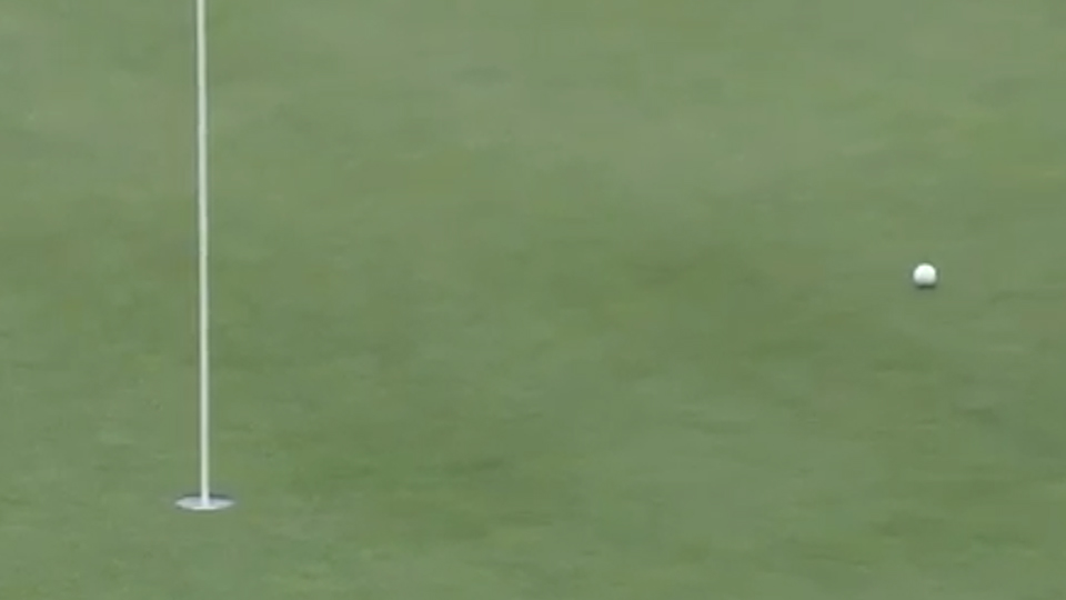 Rickie Fowler lifted him and Phil Mickelson to a 1 up lead at the turn.