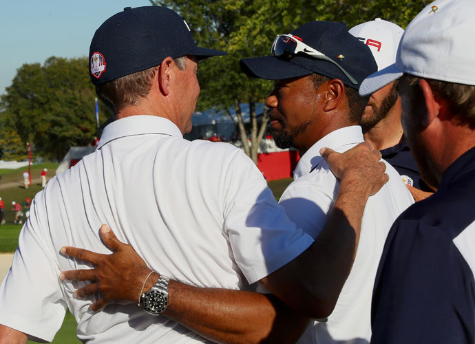 Davis Love said Tiger Woods excelled in his role as a vice captain.